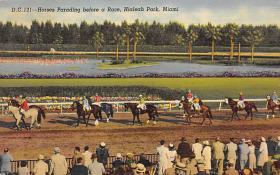 spof021546 - Hialeah Park, Miami, FL USA Horse Racing Old Vintage Antique Postcard