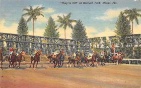 spof021550 - Miami, FL USA Horse Racing Old Vintage Antique Postcard