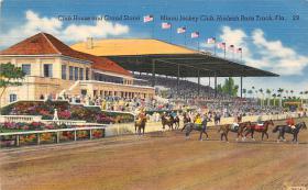 spof021555 - Miami Jockey Club, Miami, FL USA Horse Racing Old Vintage Antique Postcard