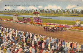 spof021561 - Miami, FL USA Horse Racing Old Vintage Antique Postcard
