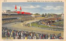 spof021568 - Churchill Downs,  Louisville, KY USA Horse Racing Old Vintage Antique Postcard