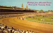 spof021584 - Churchill Downs,  Louisville, KY USA Horse Racing Old Vintage Antique Postcard