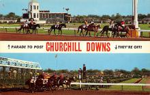 spof021590 - Churchill Downs,  Louisville, KY USA Horse Racing Old Vintage Antique Postcard