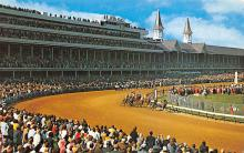 spof021598 - Churchill Downs,  Louisville, KY USA Horse Racing Old Vintage Antique Postcard