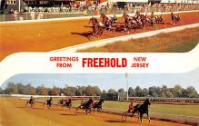 spof021606 - Freehold, NJ USA Horse Racing Old Vintage Antique Postcard