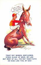 spof021617 - Horse Racing Old Vintage Antique Postcard