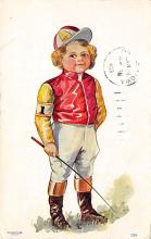 spof021618 - Horse Racing Old Vintage Antique Postcard