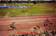 spof021624 - Saratoga Race Track, Saratoga Springs, NY USA Horse Racing Old Vintage Antique Postcard