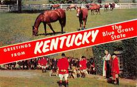spof021626 - KY USA Horse Racing Old Vintage Antique Postcard
