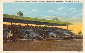 spof021633 - Henderson, KY USA Horse Racing Old Vintage Antique Postcard