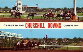 spof021644 - Louisville, KY, USA Churchill Downs Horse Racing Postcard