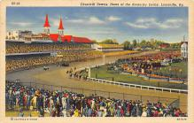 spof021645 - Louisville, KY, USA Churchill Downs Horse Racing Postcard