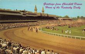 spof021646 - Louisville, KY, USA Kentucky Derby, Churchill Downs Horse Racing Postcard