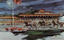 spof021647 - Home Free Sherman Raverson Painting Horse Racing Postcard