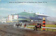 spof021674 - Chester, W Va, USA Clubhouse Turn, Waterford Park Horse Racing Postcard