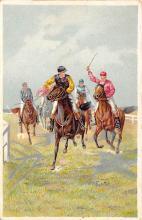 spof021692 - Horse Racing Postcard