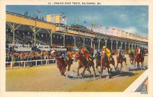 spof021696 - Baltimore, MD, USA Pimlico Race Track Horse Racing Postcard