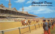 spof021716 - Louisville, KY, USA Kentucky Derby, Churchill Downs Horse Racing Postcard