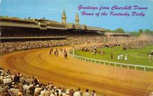 spof021717 - Louisville, KY, USA Kentucky Derby, Churchill Downs Horse Racing Postcard