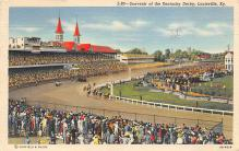 spof021722 - Louisville, KY, USA Kentucky Derby, Churchill Downs Horse Racing Postcard