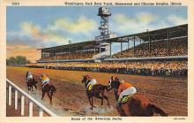 spof021725 - Chicago Heights, IL, USA Washington Park Race Track Horse Racing Postcard