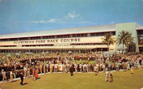 spof021726 - Hallendale, FL, USA Paddock & Grandstand, Gulfstream Park Horse Racing Postcard