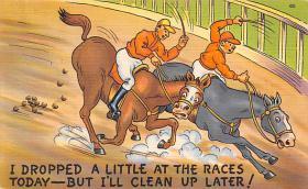 spof021730 - Horse Racing Postcard