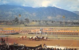 spof021740 - Arcadia, CA, USA Santa Anita Racetrack Horse Racing Postcard