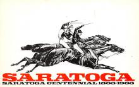 spof021743 - Saratoga, NY, USA Horse Racing Postcard