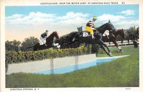 spof021747 - Saratoga Springs, NY, USA Saratoga Race Track Horse Racing Postcard
