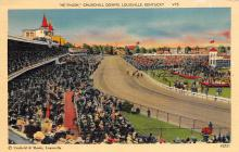 spof021754 - Louisville, KY, USA Churchill Downs Horse Racing Postcard