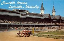 spof021761 - Louisville, KY, USA Churchill Downs Horse Racing Postcard
