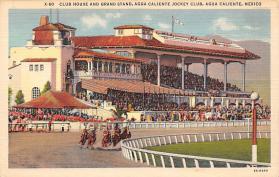 spof021763 - Agua Caliente, Mexico Claiente Jocky Club Horse Racing Postcard