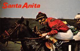 spof021768 - Arcadia, CA, USA Santa Anita Park Horse Racing Postcard