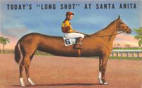 spof021779 - Arcadia, CA, USA Santa Anita Park Horse Racing Postcard