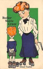 spof022022 - Rollar Skate Craze Roller Skating Postcard