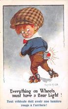 spof022085 - Artist Donald McGill, Roller Skating Postcard