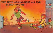 spof022096 - Comic Roller Skating Postcard