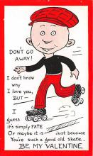 spof022106 - Be My Valentine, Roller Skating Postcard