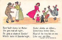 spof022115 - Everybody skates but Mother, Roller Skating Postcard