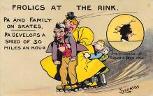 spof022120 - Frolics at the Rink, Roller Skating Postcard