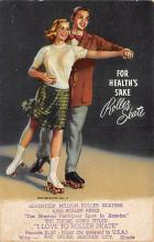 spof022126 - For Heath's Sake Roller Skate, Art Grubb, Beacher City Illinois, USA Roller Skating Postcard