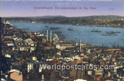 TR00023 - Vue Panoramique de Top Hane Constantinople, Turkey Postcard Post Card, Kart Postal, Carte Postale, Postkarte, Country Old Vintage Antique