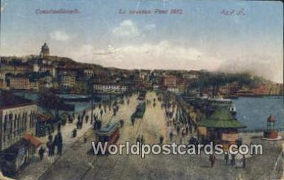TR00033 - Le Nouveau Port 1912 Constantinople, Turkey Postcard Post Card, Kart Postal, Carte Postale, Postkarte, Country Old Vintage Antique