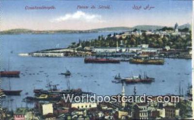 TR00039 - Pointe du Serail Constantinople, Turkey Postcard Post Card, Kart Postal, Carte Postale, Postkarte, Country Old Vintage Antique