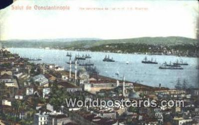 TR00048 - Vue P{anoramique de Top-Hane et du Bosphore Constantinople, Turkey Postcard Post Card, Kart Postal, Carte Postale, Postkarte, Country Old Vintage Antique