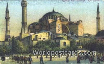 TR00049 - S.te Sophie Constantinople, Turkey Postcard Post Card, Kart Postal, Carte Postale, Postkarte, Country Old Vintage Antique