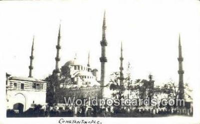 TR00052 - Real Photo, Constantinople, Turkey Postcard Post Card, Kart Postal, Carte Postale, Postkarte, Country Old Vintage Antique