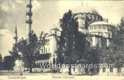 TR00053 - Mosquee Suleymanie Constantinople, Turkey Postcard Post Card, Kart Postal, Carte Postale, Postkarte, Country Old Vintage Antique