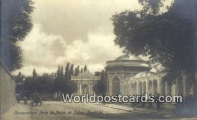 TR00059 - Real Photo - Porte de Palais de Dolma - Baghtche Constantinople, Turkey Postcard Post Card, Kart Postal, Carte Postale, Postkarte, Country Old Vintage Antique